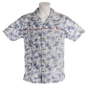 【Super Sports XEBIO & mall店:トップス】総柄裏使いプリントシャツ SAS1754400-1-WHT
