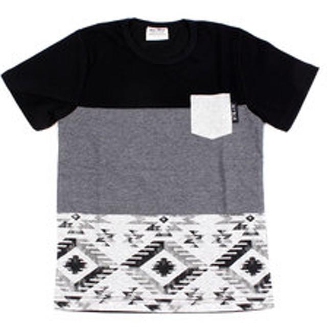 【Super Sports XEBIO & mall店:トップス】【オンラインストア限定SALE】ジュニア 切替えポケット半袖Tシャツ 68112 BLK