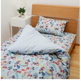 【NISHIKAWA ストア:ベッド・寝具】ミッキーマウス布団カバー3点セット敷き布団タイプ