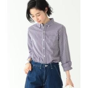 BEAMS BOY / 100/2 ギンガムチェック ボタンダウン シャツ レディース カジュアルシャツ PURPLE ONE SIZE