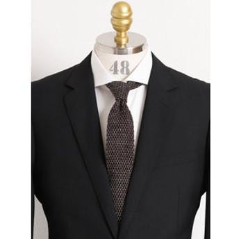 【TAKA-Q:スーツ・ネクタイ】日本製ウールニットネクタイ5.5cm幅