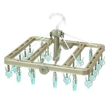 浴室乾燥に 熱に強いポリカーボネート製 ウチドライ 小物干し角ハンガー 24Pの会 フェリシモ FELISSIMO【送料:450円+税】
