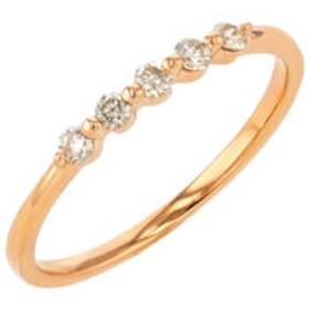 【SALE開催中】【Milluflora:アクセサリー】K18 ピンクゴールド ダイヤモンド リング