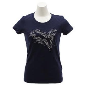 【Super Sports XEBIO & mall店:トップス】Catロゴ Tシャツ 850578 02 NVY-