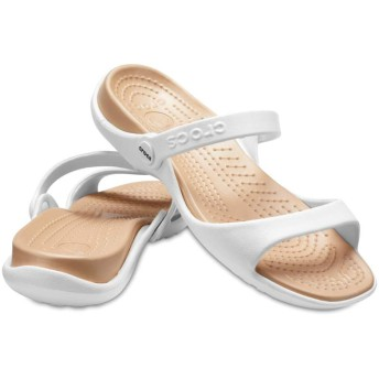 【クロックス公式】 クレオ サンダル Women's Cleo Sandal ウィメンズ、レディース、女性用 ホワイト/白 21cm,22cm,23cm,24cm,25cm sandal サンダル 40%OFF