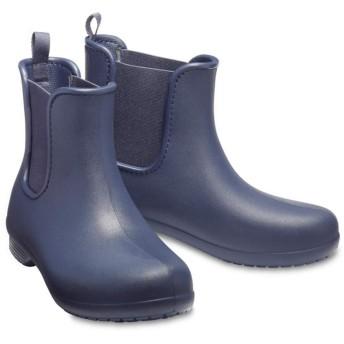 【クロックス公式】 クロックス フリーセイル チェルシー ブーツ ウィメン Women's Crocs Freesail Chelsea Boot ウィメンズ、レディース、女性用 ブルー/青 21cm,22cm,23cm,24cm,25cm,26cm boot ブーツ