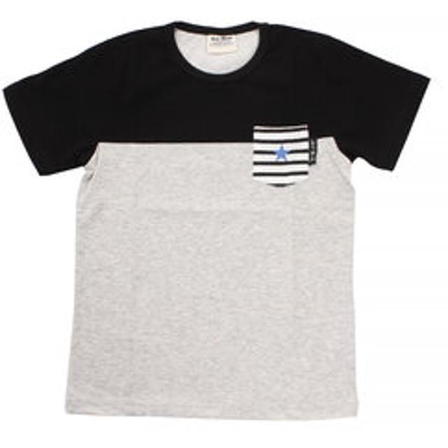 【Super Sports XEBIO & mall店:トップス】【オンラインストア限定SALE】ボーイズ 切替えポケット 半袖Tシャツ 68116 BLK