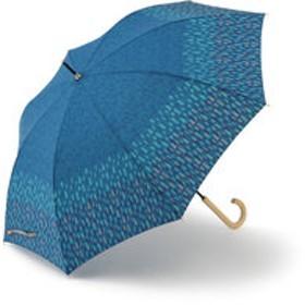 【KEYUCA:ファッション雑貨】長傘 晴雨兼用 レイクフォレスト ネイビーブルー