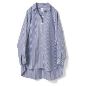 オーバーサイズなシャツ〈ストライプ〉 avecmoi フェリシモ FELISSIMO【送料無料】