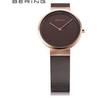 【THE WATCH SHOP.:時計】ベーリング[BERING] バレンタイン ペア コレクション カービングメッシュ 14531-262 北欧デザイン サファイアガラス レディース