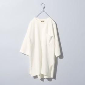 リメイク風デザインのビッグTシャツ〈オフホワイト〉 MEDE19F フェリシモ FELISSIMO【送料無料】