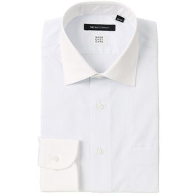 【THE SUIT COMPANY:トップス】【SUPER EASY CARE】クレリック&ワイドカラードレスシャツ 無地 〔EC・BASIC〕
