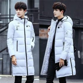 ロングジャケット メンズ 冬 ロング丈 コート ダウンジャケット スリム フード付き アウター 防寒 防風 高品質 カジュアル あったか 紳士用