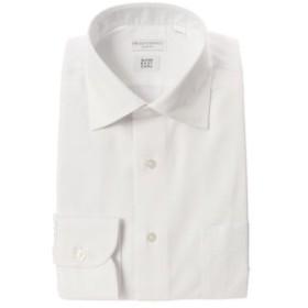 【THE SUIT COMPANY:トップス】【SUPER EASY CARE】ワイドカラードレスシャツ 織柄 〔EC・SLIM FIT〕