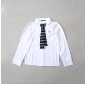 【SALE/送料無料】【BEBE ONLINE STORE:トップス】ニットタイ付カットシャツ