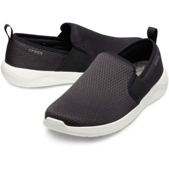 【クロックス公式】 ライトライド メッシュ スリップオン メン Men's LiteRide Mesh Slip-On メンズ、紳士、男性用 ブラック/黒 25cm,26cm,27cm,28cm,29cm shoe 靴 シューズ