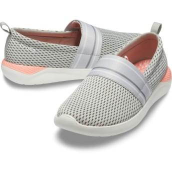 【クロックス公式】 ライトライド メッシュ スリップオン ウィメン LiteRide Mesh Slip On W ウィメンズ、レディース、女性用 ホワイト/白 21cm,22cm,23cm,24cm,25cm shoe 靴 シューズ