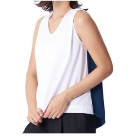 ミズノ(MIZUNO) レディース ノースリーブニットシャツ ホワイト B2JA8228 01 カジュアル スポーツウェア トラベルウェア 普段着