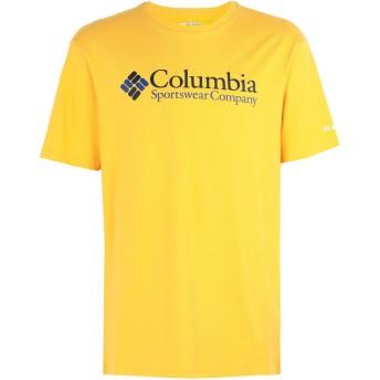 《セール開催中》COLUMBIA メンズ T シャツ あんず色 L コットン 100% North Cascades Short Sleeve tee
