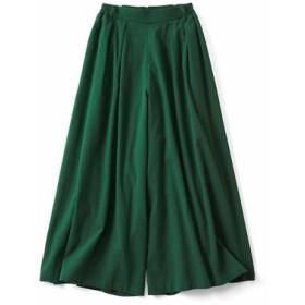 リブインコンフォート スカート見えする! コットン楊柳(ようりゅう)フレアーパンツ