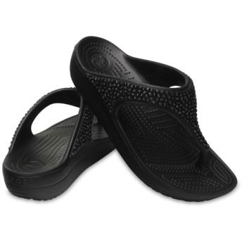 【クロックス公式】 クロックス スローン エンベリッシュド フリップ ウィメン Women's Crocs Sloane Embellished Flip ウィメンズ、レディース、女性用 ブラック/黒 21cm,22cm,23cm,24cm,25cm flip ビーチサンダル フリップサンダル ビーサン 20%OFF