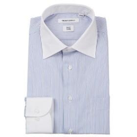 【THE SUIT COMPANY:トップス】クレリック&ワイドカラードレスシャツ ストライプ 〔EC・FIT〕
