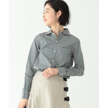 BEAMS BOY / 小紋 カッタウェイ シャツ レディース カジュアルシャツ WHITE ONE SIZE