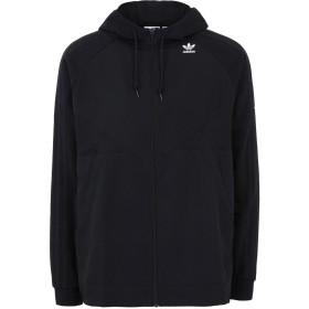 《期間限定 セール開催中》ADIDAS ORIGINALS メンズ スウェットシャツ ブラック S ポリエステル 100% / コットン FZ HOODY