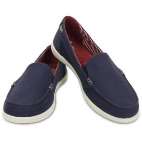 【クロックス公式】 ワルー キャンバス ローファー ウィメン Women's Walu Canvas Loafer ウィメンズ、レディース、女性用 ブルー/青 21cm,22cm,23cm,24cm,25cm loafer ローファー 靴 20%OFF