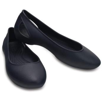 【クロックス公式】 クロックス ローラ フラット ウィメン Women's Crocs Laura Flat ウィメンズ、レディース、女性用 ブルー/青 21cm,22cm,23cm,24cm,25cm,26cm flat フラットシューズ バレエシューズ ぺたんこシューズ