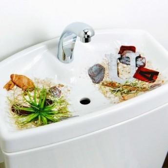 取り換えるだけお掃除 トイレの手洗いタンクシート〈海とグリーン〉の会 フェリシモ FELISSIMO【送料:450円+税】