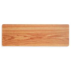 スリムで長くて熱に強い 木目プリントのガラスプレートの会 フェリシモ FELISSIMO【送料:450円+税】