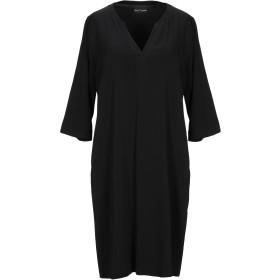 《セール開催中》EUROPEAN CULTURE レディース ミニワンピース&ドレス ブラック XS レーヨン 96% / ゴム 4%