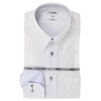 【TAKA-Q:トップス】形態安定スリムフィット レギュラーカラー長袖ビジネスドレスシャツ