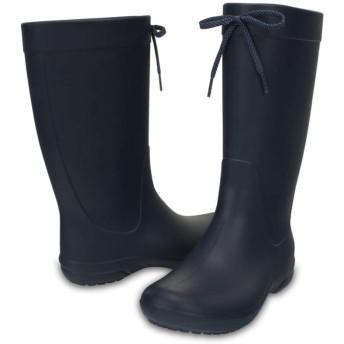 【クロックス公式】 クロックス フリーセイル レイン ブーツ ウィメン Women's Crocs Freesail Rain Boot ウィメンズ、レディース、女性用 ブルー/青 21cm,22cm,23cm,24cm,25cm,26cm boot ブーツ