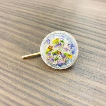 わすれな草と小花のポニーフック