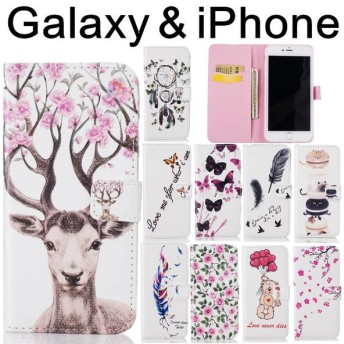 iPhone7/iPhone7 Plus 6/6s plus 5/5s/SE 5C Galaxy S7edge S6edge S5ケース 手帳型 横開き 携帯ケース レザーケース おしゃれ カード収納
