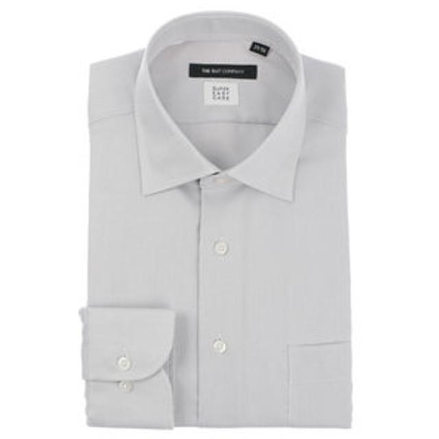 【THE SUIT COMPANY:トップス】【SUPER EASY CARE】ワイドカラードレスシャツ 織柄 〔EC・BASIC〕