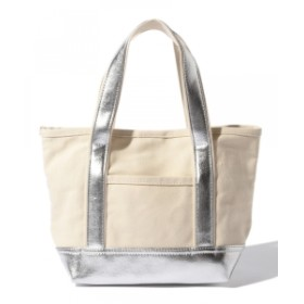 B:MING by BEAMS / キャンバス トートバッグ レディース トートバッグ SILVER ONE SIZE