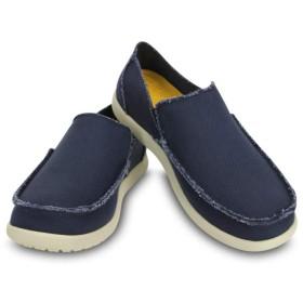 【クロックス公式】 メンズ サンタクルーズ スリップオン Men's Santa Cruz Slip-On メンズ、紳士、男性用 ブルー/青 25cm,26cm,27cm,28cm,29cm loafer ローファー 靴 30%OFF