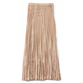 Aラインシルエットがキレイなプリーツスカート〈アンティークベージュ〉 フェリシモ FELISSIMO【送料無料】