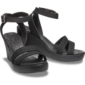 【クロックス公式】 レイ サンダル ウェッジ ウィメン Women's Leigh Sandal Wedge ウィメンズ、レディース、女性用 ブラック/黒 21cm,22cm,23cm,24cm,25cm wedge 30%OFF