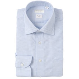【THE SUIT COMPANY:トップス】【NON IRON STRETCH】ワイドカラードレスシャツ 織柄 〔EC・SLIM FIT〕
