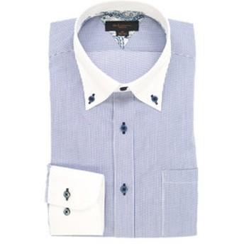 【m.f.editorial:トップス】形態安定スリムフィット ボタンダウン長袖ビジネスドレスシャツ