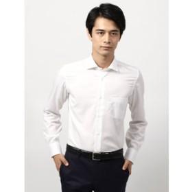【THE SUIT COMPANY:トップス】◆ANTONIO LAVERDA◆ホリゾンタルカラードレスシャツ 織柄 〔Easy Care〕
