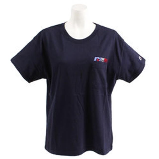 【Super Sports XEBIO & mall店:トップス】【オンライン特価】 NUBLEND ポケット付き 半袖Tシャツ RBL19S1011 NVY