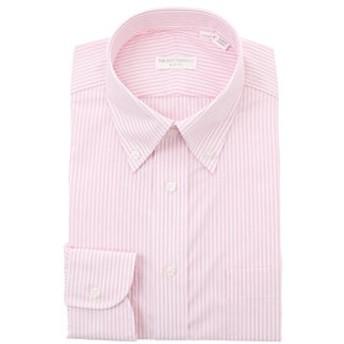 【THE SUIT COMPANY:トップス】ボタンダウンカラードレスシャツ ストライプ 〔EC・SLIM FIT〕