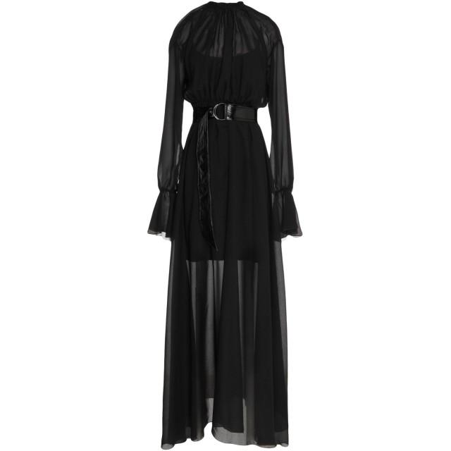 《期間限定セール開催中!》FEDERICA TOSI レディース ロングワンピース&ドレス ブラック 44 シルク 100%