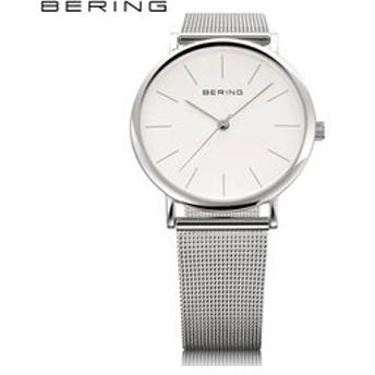 【THE WATCH SHOP.:時計】ベーリング[BERING] クラシック シリーズ[CLASSIC SERIES] カービング メッシュ[CURVING MESH] 13436-000 北欧 メンズ ペアウオッチ