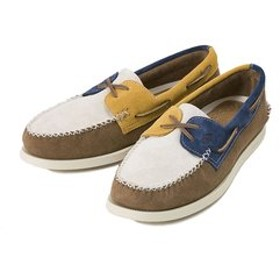 【ABC-MART:シューズ】STS13165 A/O 2-EYE WEDGE SUEDE(W) BROWN/NAVY 547679-0001